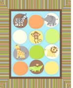 Crafty Cuts Nursery Blanket Fabric Kit, Zoo Animals