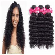 Ms Love Brazilian Virgin Hair Deep Wave Hair Extension 8a Unprocessed Human Hair Bundles Natural Colour Mixed Length 95-100g/pc