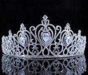 Janefashions CZ Stone & Clear Austrain Crystal Rhinestone Tiara Hair Combs Crown Bridal T804