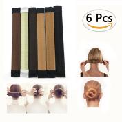 Sc0nni 6pcs Fashion Hair Styling Hair Donut Former Foam French Twist Magic DIY Tool Hair Bun Maker