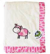 Flush Beige PV Baby Blanket, Pink Calf Design