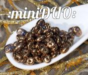 10g Tanzanite Purple Bronze Luster MINIDUO Czech Glass Seed Beads Two Hole Mini Duo 2mm x 4mm