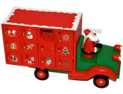 Gisela Graham Wooden Santa Lorry Advent Calender