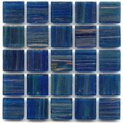 1.9cm Glass Tile - P 65 Blue Agate - 0.5kg bag Hakatai Brand Loose Tile